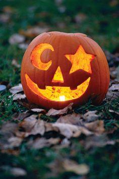 Expressive Pumpkin - 33 Halloween Pumpkin Carving Ideas - Southern Living