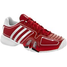 Adidas Barricade 7: Adidas Men's Tennis Shoes University Red/metallic Silver/white