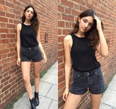 beautiful, brunette, and fashion imageの画像