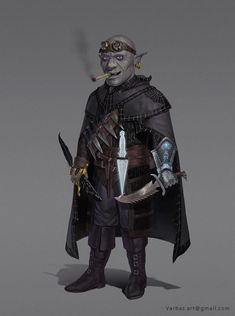 m Deep Gnome Rogue Thief Leather Armor Cloak Dual Daggers Cigar Underdark undercity d&d DnD Fantasy Character Design, Character Concept, Character Inspiration, Character Art, Character Ideas, Fantasy Inspiration, Concept Art, Fantasy Races, Fantasy Rpg