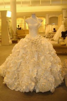 White and Gold Wedding. Sweetheart Corset Ballgown Dress. Say yes to the dress NY There's something about this dress....
