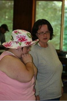Dareth and Lorna at camp in 2009.