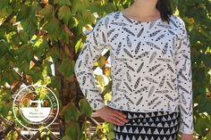 """El blog de """"Coser fácil y más by Menudo numerito"""" - Costura creativa: Cómo coser la sudadera más fácil del mundo"""