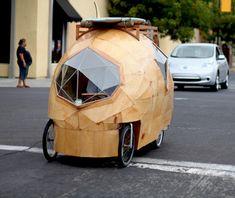 Weird and cool, an electric camper car.