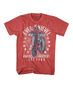 Vintage Red Heather Evel Knievel Tee - Toddler & Kids | zulily