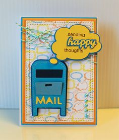 """""""Sending Happy Thoughts"""" card made with CCR Exclusive City Icons. Such a cute idea! #cricut"""
