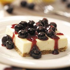 Blueberry Cheesecake Dessert Recipe from Taste of Home -- shared by Arleen Mayeda of Rocky Hill, Connecticut