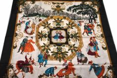 Hermes Silk Scarf 'Joies d'Hiver'