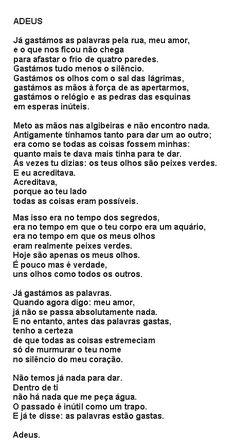 """Eugénio de Andrade """"O adeus"""""""