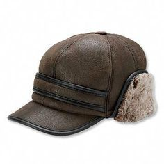 4e259a3444ef0a USD Shearling Winter Ball Cap Our shearling hat for men is made for superb  outdoor comfort and style.