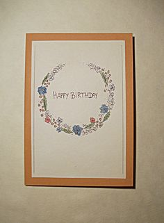 #birthday #card #birthdaycard #DIY #ideas #flowers