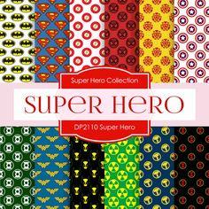 Super Hero Digital Paper DP2110 - Digital Paper Shop - 1