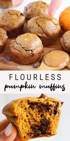 Healthy Dessert Recipes, Gluten Free Desserts, Healthy Baking, Healthy Desserts, Baby Food Recipes, Fall Recipes, Baking Recipes, Keto Snacks, Healthy Pumpkin Recipes
