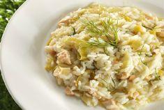 Risotto au saumon frais et poireaux WW, recette d'un bon plat complet bien crémeux et plein de saveurs, très facile et rapide à faire, qui plaira à toute la famille.