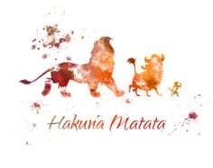 Watercolor disney - the lion king hakuna matata quote art print illustration disney wall art nursery home decor nursery gift Disney Pixar, Art Disney, Disney Kunst, Disney And Dreamworks, Disney Love, Disney Magic, Hakuna Matata Quotes, Lion King Hakuna Matata, The Lion King