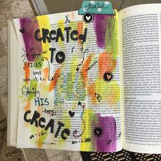 God has given each has different skills. From the Old Testament God gave these beautiful talents to his people to build a Tabernacle where they could meet and worship him! Skills that the Lord has placed in your hands? Make sure that each glorify your name! He is our Creator have been CREATED TO CREATE!  #createdtocreate #exudus35:31-35 #illustratedfaith #biblejournaling Dios no ha dado ha cada uno diferentes destrezas. Desde el antiguo testamento Dios le dio estos hermoso talentos a su…