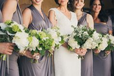 Bridesmaid Bouquets | Gorgeous Wedding Colors | Photography: Zoom Theory | See more on SMP: http://www.stylemepretty.com/2013/11/20/modern-malibu-wedding-from-zoom-theory/
