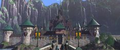 The Kingdom of Arendelle (in summer) from Disney's Frozen
