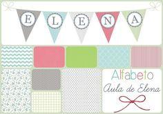 Alfabeto en forma de banderines del blog Aula de Elena. Freebie listo para descargar e imprimir.
