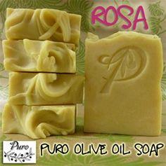 PURO SOAP : Distinctive romantic soap.     love the P embossed on the soap !