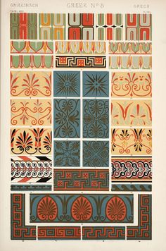 PLATE XVI.-XXI. Ornaments from Greek and Etruscan Vases in the British Museum and the Louvre.