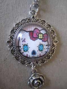Sugar Skull Hello Kitty Necklace. Starting at $5 on Tophatter.com!