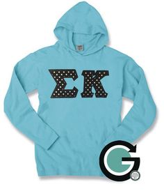 CUSTOM Comfort Colors Long Sleeve Hoodie with Greek (Sorority or Fraternity) Letters -- Perfect Gift, Great for Fall! by GoneGreek on Etsy