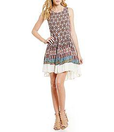 CandV Chelsea and Violet BorderPrint Dress #Dillards