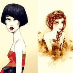 Fashion Illustrations Joanne Young 9 Illustrations par Joanne Young : Poétiquement Mode