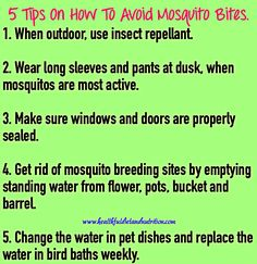 5 Tips On How To Avoid Mosquito Bites
