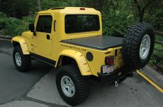 Lil Yellow Wrangler Pickup, Jeep Pickup, Jeep Wrangler, Jeep Truck, Pickup Trucks, Lifted Trucks, Cj Jeep, Jeep Camping, Cool Jeeps
