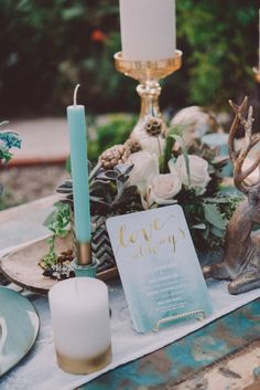 Boho-Chic Wedding Styled Shoot With Dreamy Paper Details Galore! - Belle The Magazine  I can put my Gold reindeers on our bride and groom table