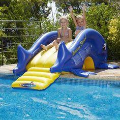 toboggan gonflable pour la piscine