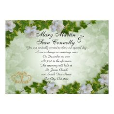 Wedding Invitation ivy border with gardenias in each seller & make purchase online for cheap. Choose the best price and best promotion as you thing Secure Checkout you can trust Buy bestDeals          Wedding Invitation ivy border with gardenias Review on the This website by click th...