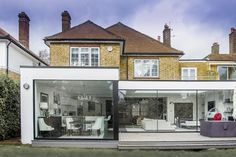 glass extension irish traditional exterior - Google Search