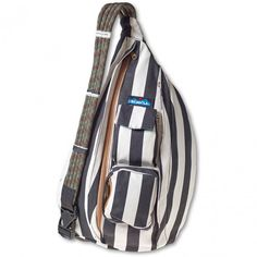 923-371 Kavu Women's Rope Bag - BW Stripe www.bootbay.com
