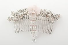 A beautiful floral bridal comb with clustered brooch detail and delicate crystal strands, finished with a drop. Bridesmaid Accessories, Wedding Accessories, Hair Accessories, Crystal Drop, Crystal Rhinestone, Hair Comb Clips, Bridal Comb, Delicate, Wedding Rings