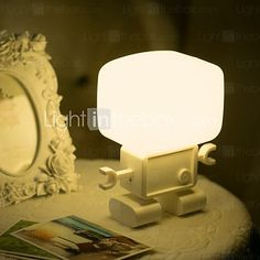 The Intelligent Robot Acoustic And Optic The Charging Shaped Night Light - USD $ 63.99