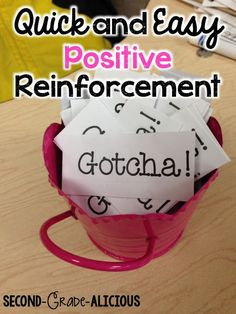 Great idea for positive reinforcement in the classroom!