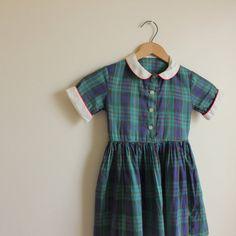 50s Girls Dress  Checkered Dress  Girls by AllengroveVintage, $24.00