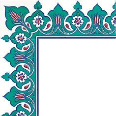 Islamic Motifs, Islamic Art Pattern, Turkish Art, Turkish Tiles, Border Pattern, Pattern Art, Stencil Designs, Stencil Patterns, Islamic Paintings