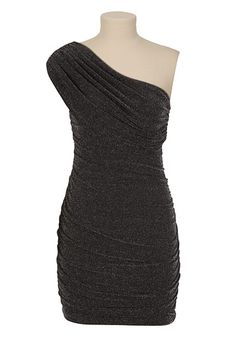 One Shoulder Glitter Dress available at #Maurices