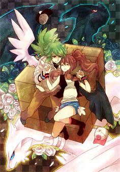 """""""I never want to be without you"""" - N & Touko. #PokemonBW #Ferriswheelshipping"""