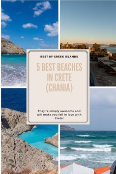 These five beaches in Chania are among the most beautiful on Crete. This Greek island awaits for you to enjoy its beaches, so take a look to see what to add to your Greece travel bucket list. Beach Fun, Beach Trip, Road Trip Europe, Road Trips, Greece Islands, Most Beautiful Beaches, Crete Chania, Greece Travel, Plan Your Trip