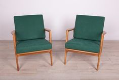 300-139 Armchairs from Swarzedzka Furniture Factory, 1960s, Set of 2 for sale at Pamono