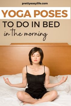 Before you start your day take some time to do some Energizing Morning Yoga Poses in Bed #yogaposes Morning Yoga Flow, Morning Yoga Routine, Happy Baby Pose, Yoga Lifestyle, Healthy Lifestyle, True Yoga, Restorative Yoga Poses, Cow Pose, Yoga Moves
