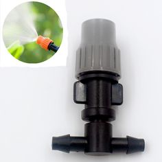 "200pcs/pack Adjustable Mist Sprinkler With 1/4"" Barb Tee For Micro Greenhouse Irrigation Misting Garden Watering Fitting M102F #Affiliate"