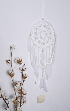 Items similar to Large Dream Catcher Gift personalized Bohemian Dreamcatchers Boho Wall Hanging White Wedding decoration Nursery Baby gifts Family wall art on Etsy Grand Dream Catcher, Dream Catcher Pink, Large Dream Catcher, Dream Catchers, White Wedding Decorations, Decor Wedding, Family Wall Art, Boho Wall Hanging, Small Rings