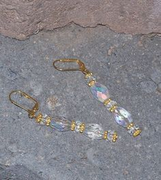 Crystal Bead Earrings With Gold Plated Lever by ButtercupsWhatEvas