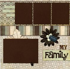 My Family - Premade Scrapbook Page Set. $27.95, via Etsy.